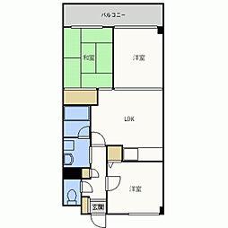 アンピール第5新室見[803号室]の間取り