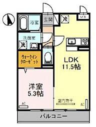 JR東北本線 大宮駅 徒歩23分の賃貸アパート 3階1LDKの間取り