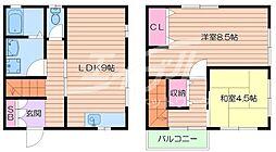 [テラスハウス] 大阪府箕面市新稲5丁目 の賃貸【/】の間取り