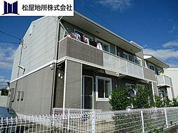 愛知県豊橋市前芝町字西青の賃貸アパートの外観