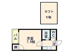 K&Y美野島[202号室]の間取り