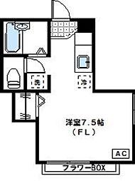 神奈川県川崎市高津区坂戸1丁目の賃貸マンションの間取り