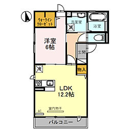 (仮)D-room堺市北区蔵前町3丁 2階1LDKの間取り