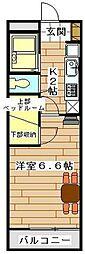JR高崎線 宮原駅 徒歩9分の賃貸マンション 3階1Kの間取り