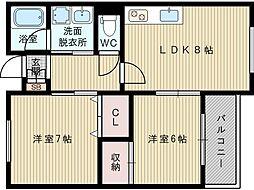 キープロハイツ2[2階]の間取り
