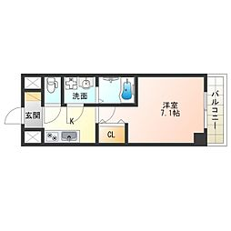 阪神なんば線 九条駅 徒歩8分の賃貸マンション 9階1Kの間取り