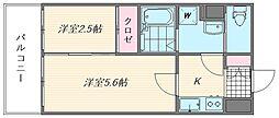 グランフォーレ箱崎ステーションプラザ[904号室]の間取り