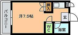 リベルテ西片江[203号室]の間取り