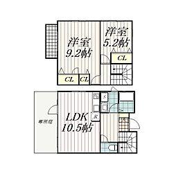 [テラスハウス] 千葉県千葉市花見川区さつきが丘1丁目 の賃貸【/】の間取り
