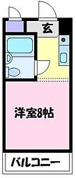 グリーンハイツ北野田[1階]の間取り