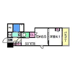 Osaka Metro御堂筋線 あびこ駅 徒歩8分の賃貸マンション 5階1DKの間取り