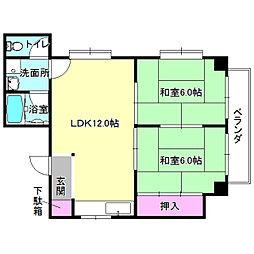 大阪府枚方市伊加賀北町の賃貸マンションの間取り