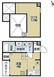 阪堺電気軌道阪堺線 寺地町駅 徒歩5分の賃貸アパート 2階1Kの間取り