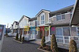 東京都羽村市緑ヶ丘2丁目の賃貸アパートの外観