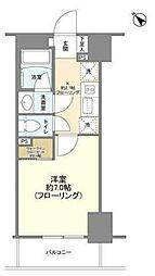 ピアース赤坂 3階1Kの間取り