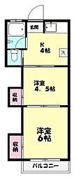 冨士荘[103号室]の間取り