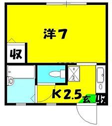 シャトーメイワ[2階]の間取り
