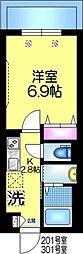 仮称)平田3丁目9メゾン 3階1Kの間取り