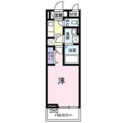 東武東上線 鶴ヶ島駅 徒歩5分の賃貸アパート 3階1Kの間取り