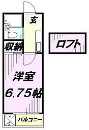 埼玉県入間市高倉1丁目の賃貸アパートの間取り