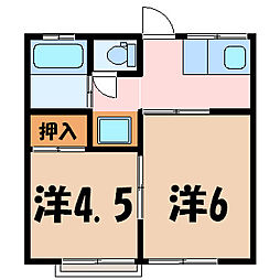 blanc barrett[2階]の間取り