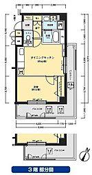 フロール川崎下平間2番館[901号室]の間取り
