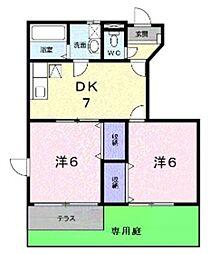 大阪府堺市美原区大饗の賃貸アパートの間取り