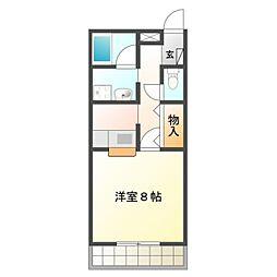 愛知県豊橋市大崎町字東里中の賃貸マンションの間取り