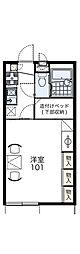 レオパレスイーストライト白井[1階]の間取り