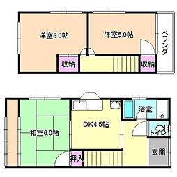 [一戸建] 大阪府枚方市出口3丁目 の賃貸【/】の間取り