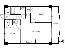 ゼフィールマンションA棟[4階]の間取り