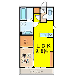 (仮)D-room西城南B[1階]の間取り
