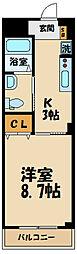 JR南武線 矢野口駅 徒歩2分の賃貸マンション 1階1Kの間取り