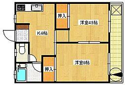 平塚第1マンション[3階]の間取り