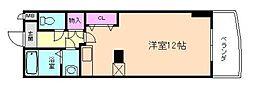 カスタリア新梅田[9階]の間取り