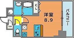 ファーストフィオーレ三宮イーストII 4階1Kの間取り
