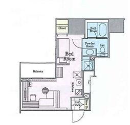 東京メトロ丸ノ内線 四谷三丁目駅 徒歩4分の賃貸マンション 7階ワンルームの間取り