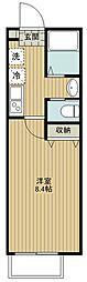 キャメル入間東藤沢 2階1Kの間取り
