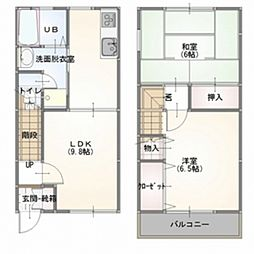 [テラスハウス] 東京都羽村市羽加美3丁目 の賃貸【/】の間取り