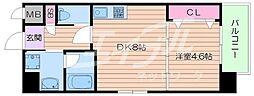 DiasII 10階1DKの間取り
