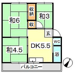 新倉敷マンション B[102号室]の間取り