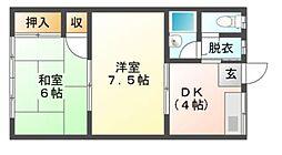 杉浦荘[1階]の間取り