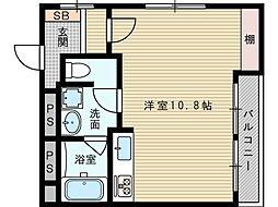 松屋ハイツ[4階]の間取り