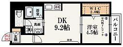 カーサ千駄ヶ谷 2階1SDKの間取り
