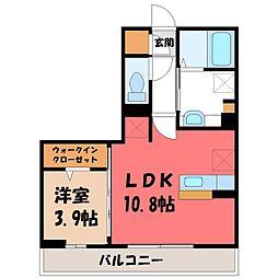 チェルボ 2階1LDKの間取り