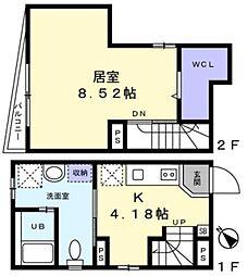 JR山手線 大塚駅 徒歩7分の賃貸マンション 1階1Kの間取り