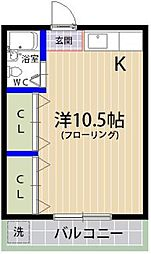 ファミーユ香住ヶ丘[203号室]の間取り