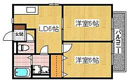レトア千鳥 A棟[2階]の間取り
