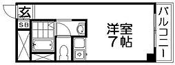 大阪府寝屋川市高倉1丁目の賃貸マンションの間取り
