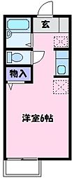 大阪府堺市東区大美野の賃貸アパートの間取り